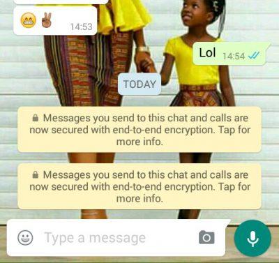Mã hóa đầu cuối trên WhatsApp