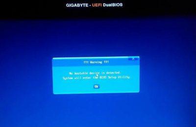 Hướng dẫn xử lý lỗi No bootable device is detected