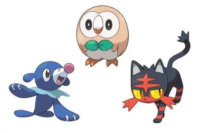 Pokemon Sun and Moon ấn định ngày phát hành, hé lộ 3 Pokemon khởi đầu