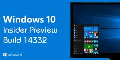 Cập nhật và đánh giá Windows 10 Build 14332