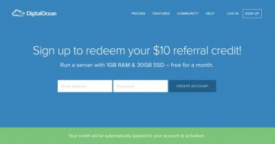 Miễn phí tới 35$ – Coupon VPS DigitalOcean