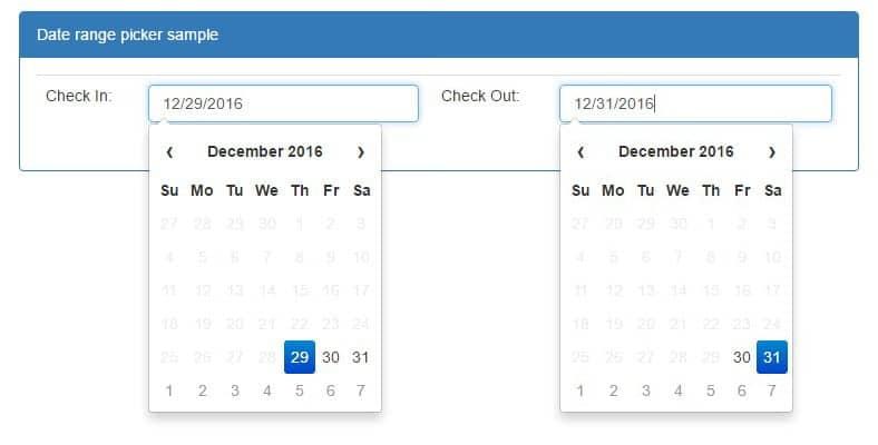 Hướng dẫn Code Date Range Picker với Bootstrap Datepicker