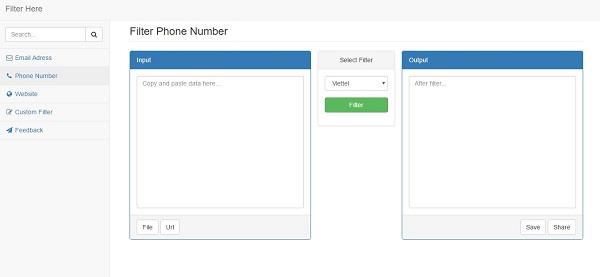 Lọc số điện thoại của các nhà mạng phổ biến vở Việt Nam