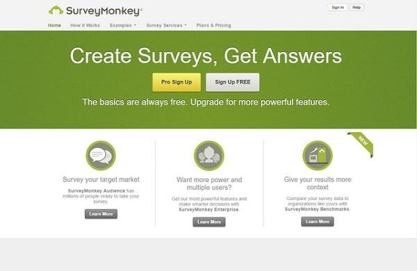 Lấy phản hồi Khách hàng bằng SurveyMonkey