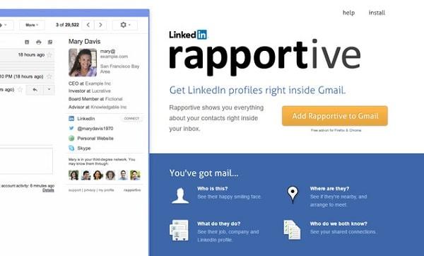 Tìm thông tin chuẩn xác bằng Rapportive