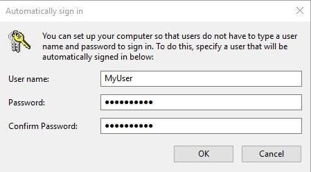 Nhập lại 2 lần mật khẩu của bạn và nhấn OK