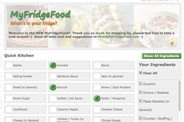 MyFridgeFood.com sẽ giúp bạn chế biến món ăn ngon lành từ mọi nguyên liệu còn sót trong tủ lạnh