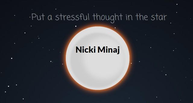 Chỉ cần 60 giây để bạn thư giãn, mọi lo âu sẽ biến mất. Và cả Nicki Minaj cũng thế