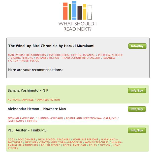 Với WhatShouldIReadNext.com, bạn sẽ chẳng bao giờ phải lo... hết sách để đọc