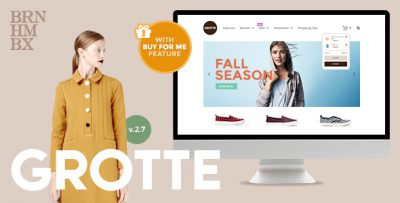 Chia sẻ theme WordPress Grotte – A Dedicated WooCommerce
