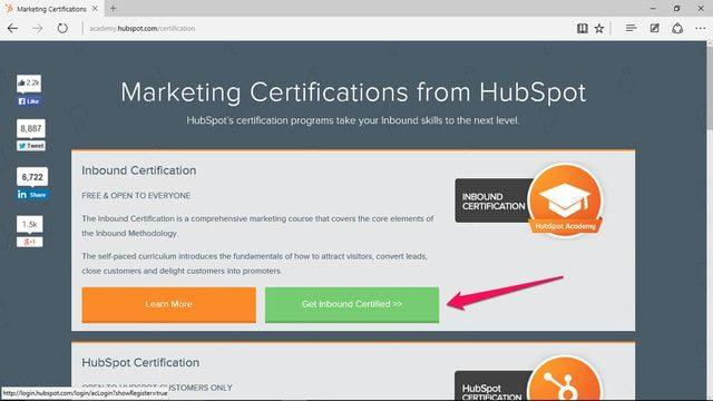Chứng chỉ Inbound Marketing từ HubSpot