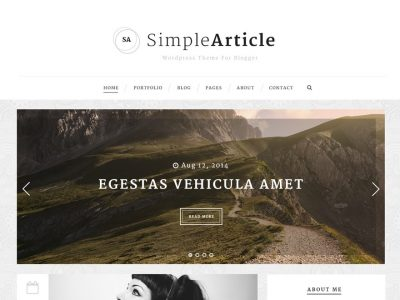 Download theme WordPress Simple Article For Personal Blog free