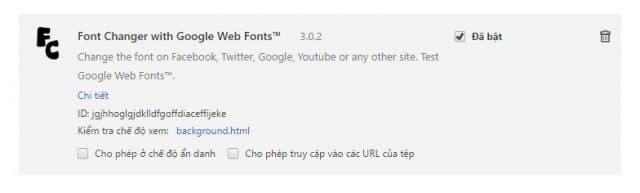 Truy cập vào url chrome://extensions để kiểm tra extension đã được cài đặt thành công