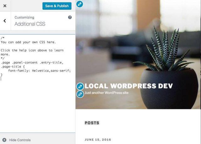 Tùy biến CSS không cần sửa theme