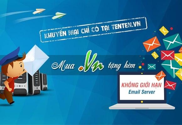 Tenten Mua tên miền .VN giảm giá Hosting chỉ còn 1K + Không giới hạn Email server!