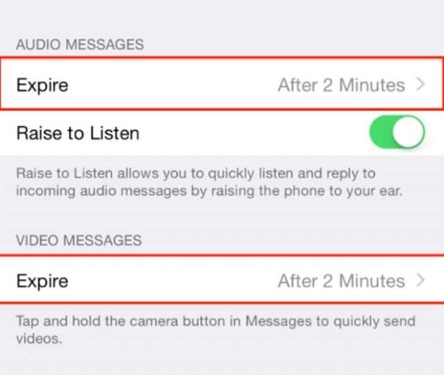 Gửi tin nhắn âm thanh và video tự hủy sau một thời gian định trước