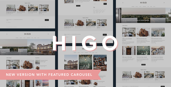 Higo - A Responsive WordPress Blog Theme ($49 - FREE)