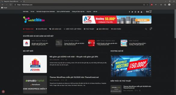 Thủ thuật bật giao diện tối cho Chrome hoặc bất kỳ trang web nào tùy thích