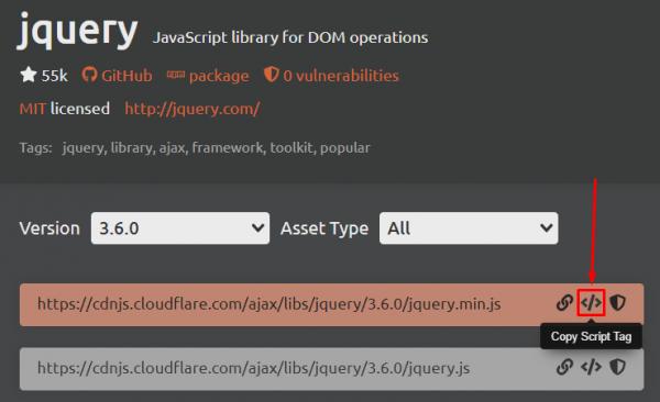 Đầu tiên, bạn cần chuẩn bị thư viện jQuery cho website